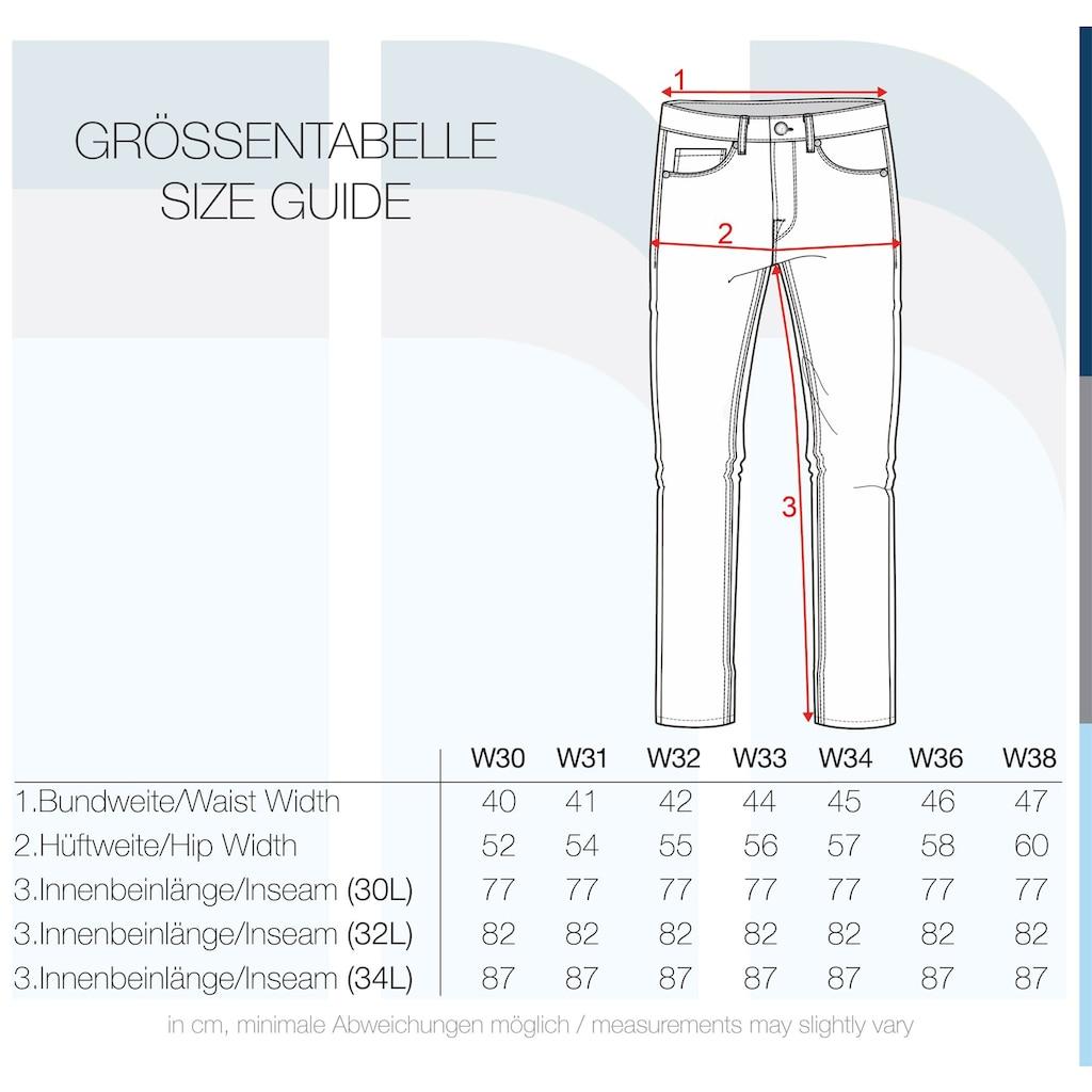 Indicode 5-Pocket-Jeans »Quebec«, Denim Hose im Washed-Out Look