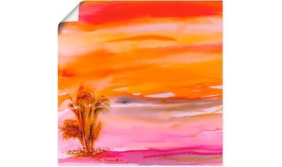 Artland Wandbild »Abendsonne«, Sonnenaufgang & -untergang, (1 St.), in vielen Größen &... kaufen