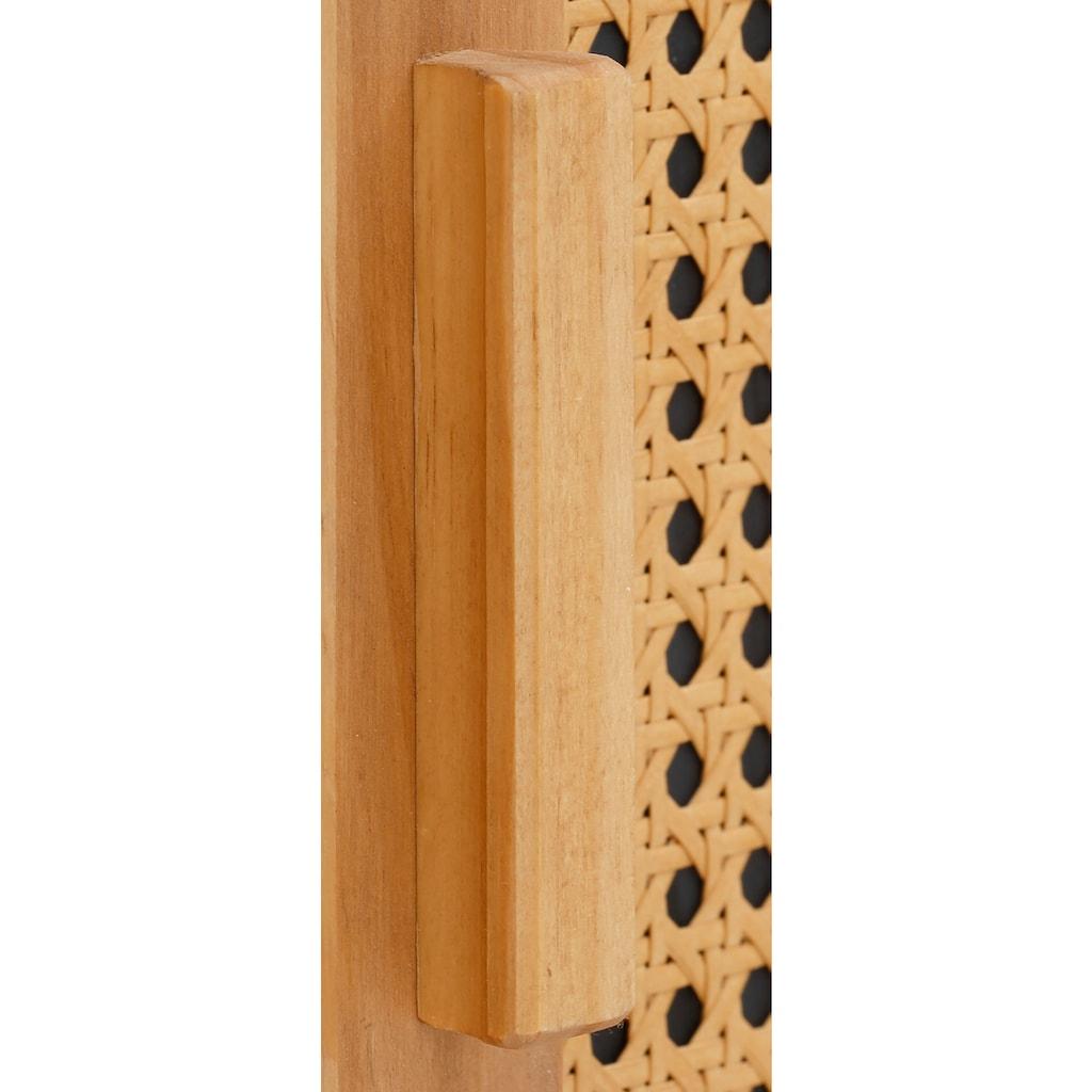 Home affaire Sideboard »Jolene«, mit Rattangeflecht auf den Türfronten, aus Massivholz, in zwei unterschiedlichen Farbvarianten