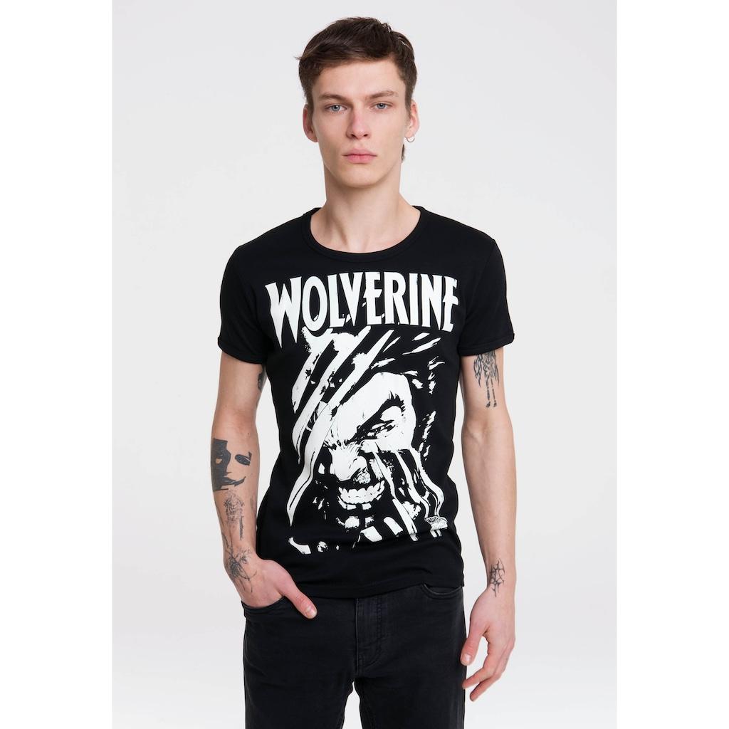 LOGOSHIRT T-Shirt »Wolverine«, mit Marvel-Print