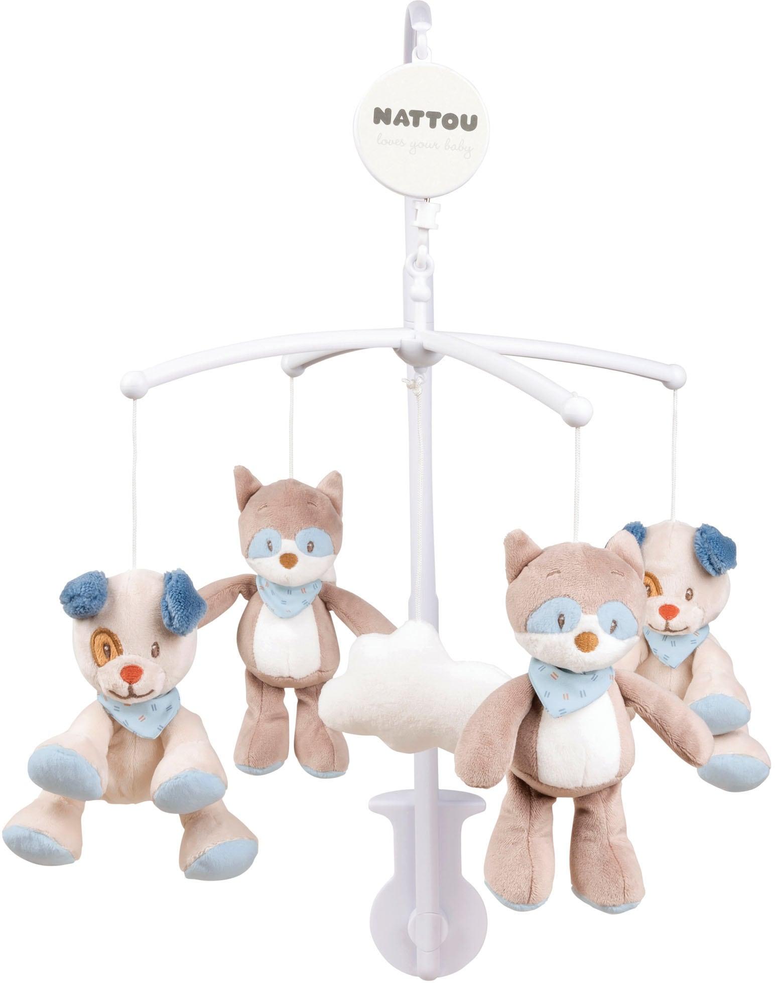 Nattou Mobile Jim & Bob bunt Kinder Mobiles Baby Kleinkind