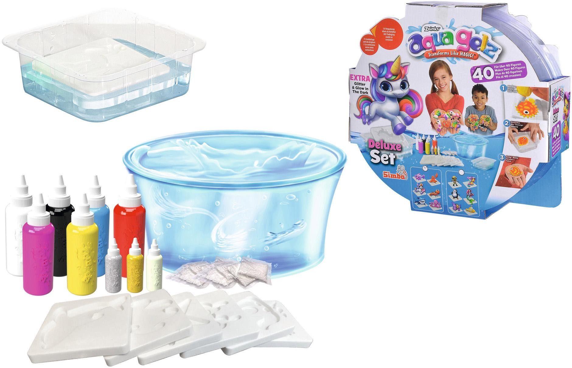 "SIMBA Kreativset ""Aqua Gelz Deluxe"" Kindermode/Spielzeug/Basteln, Malen, Kosmetik & Schmuck/Bastelbedarf & -techniken"