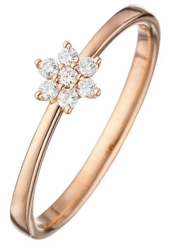 JOBO Diamantring, 585 Roségold mit 7 Diamanten kaufen