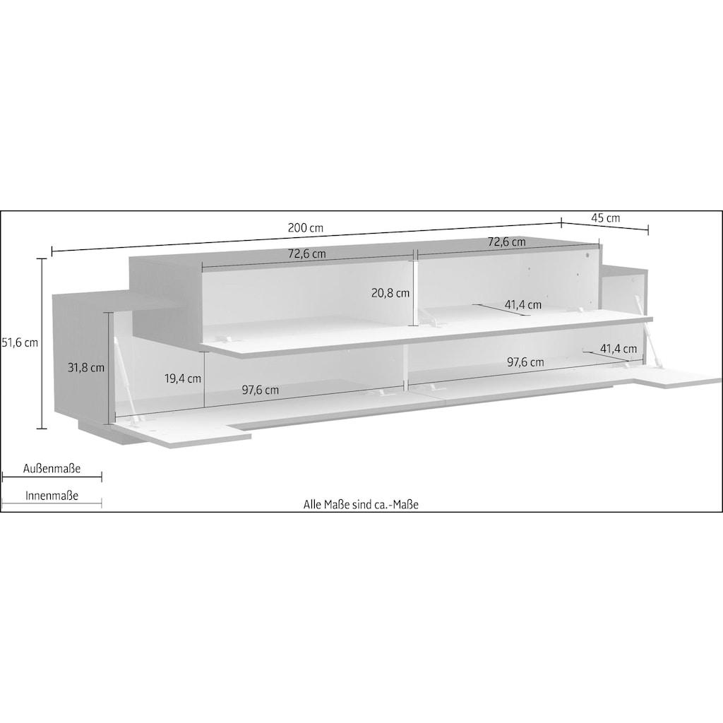 Tecnos Lowboard »Zero«, Breite 200 cm