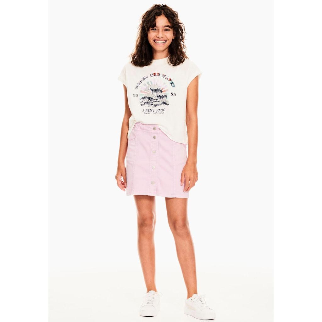 Garcia T-Shirt, mit kleinem Ärmelaufschlag