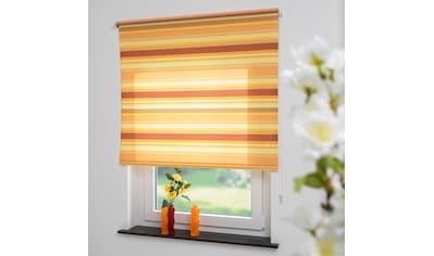Liedeco Seitenzugrollo »Streifen orange«, Lichtschutz, freihängend, Seitenzugrollo, Kettenzugrollo, Dekorrollo - Streifen orange kaufen