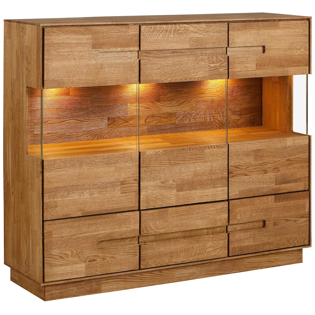 Premium collection by Home affaire Highboard »Pavo«, inklusive LED Beleuchtung