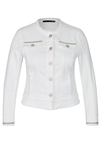 LeComte Jeansjacke, mit Glitzerdetails und Fransen kaufen