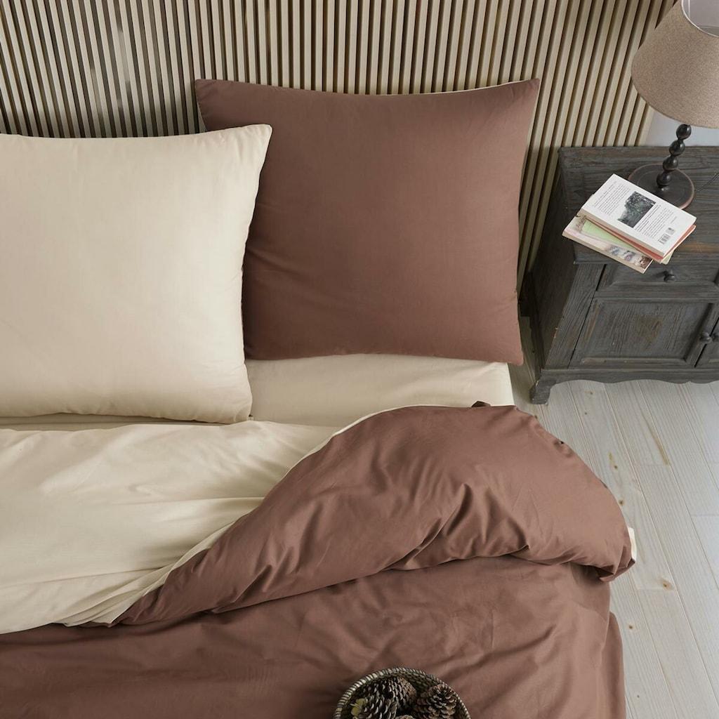 TRAUMSCHLAF Bettwäsche »Doubleface«, edles Motiv auf 100% Baumwolle