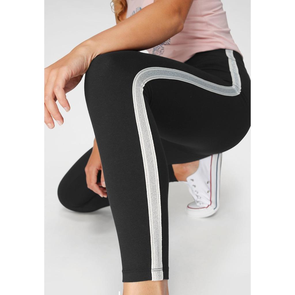 Ocean Sportswear Leggings, mit Seitenstreifen in Metallic-Optik