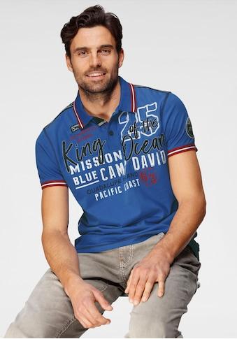 CAMP DAVID Poloshirt, mit großem Logofrontprint kaufen