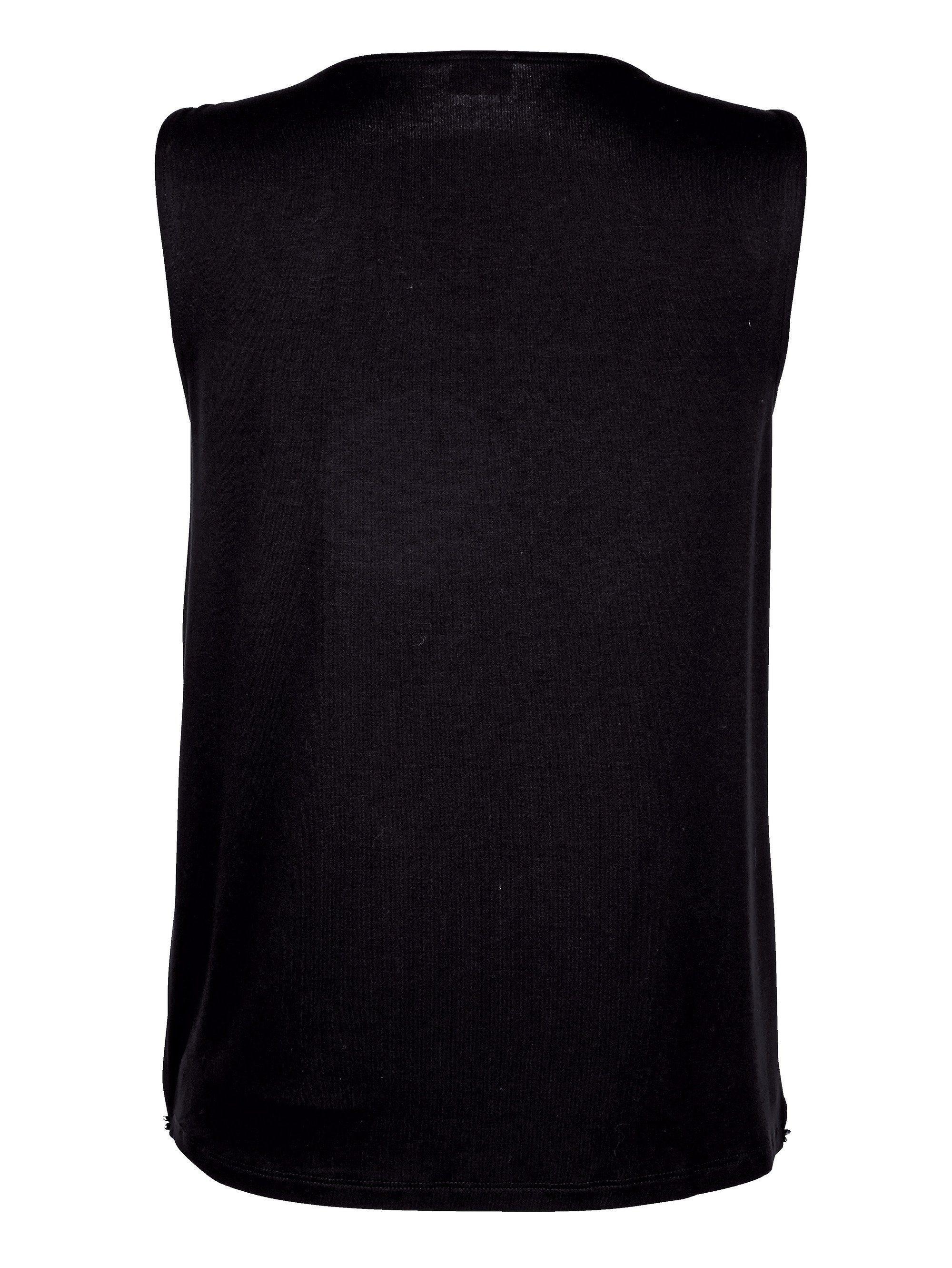 Alba Moda Lagentop mit dezenter Strass-Verzierung   Bekleidung > Tops > 2-in-1-Tops   Schwarz   Chiffon - Polyester - Jersey - Viskose   Alba Moda