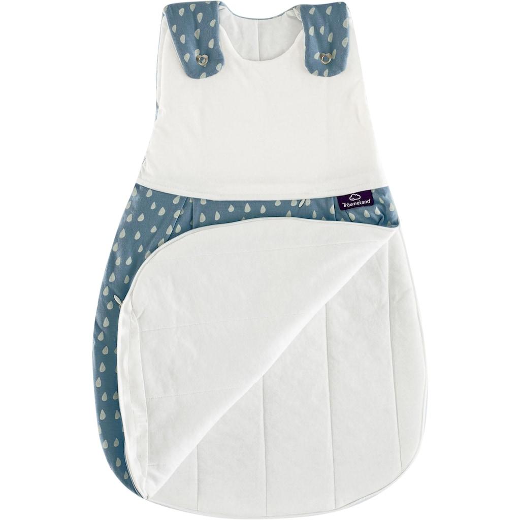 Träumeland Babyschlafsack »Set Tropfen Ozeanblau«, (Packung, 3 tlg., 3er-Pack)