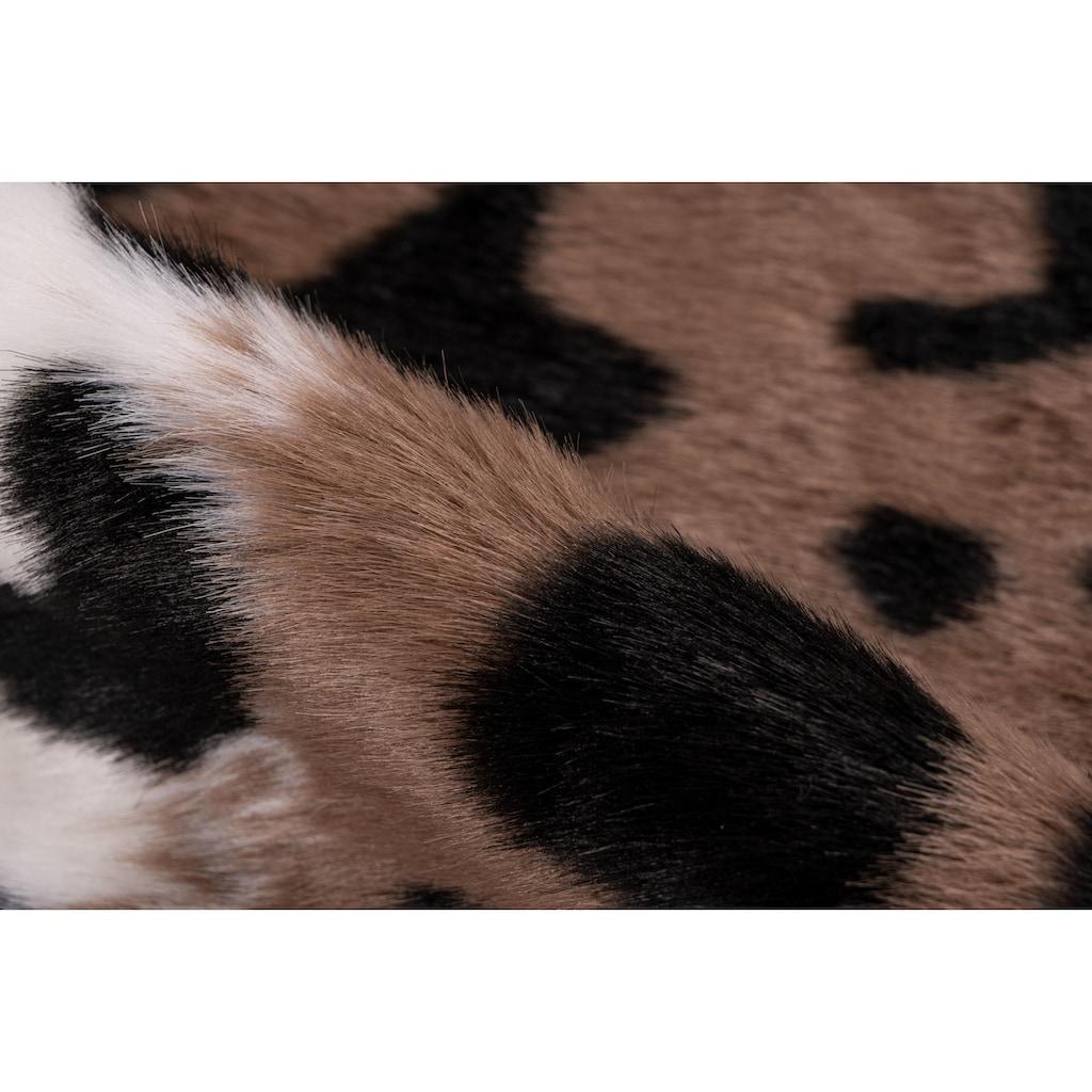 me gusta Fellteppich »Desert 300«, fellförmig, 19 mm Höhe, Kunstfell, Leoparden Design, Wohnzimmer