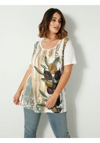 Sara Lindholm Print-Shirt, mit funkelnden Steinchen kaufen