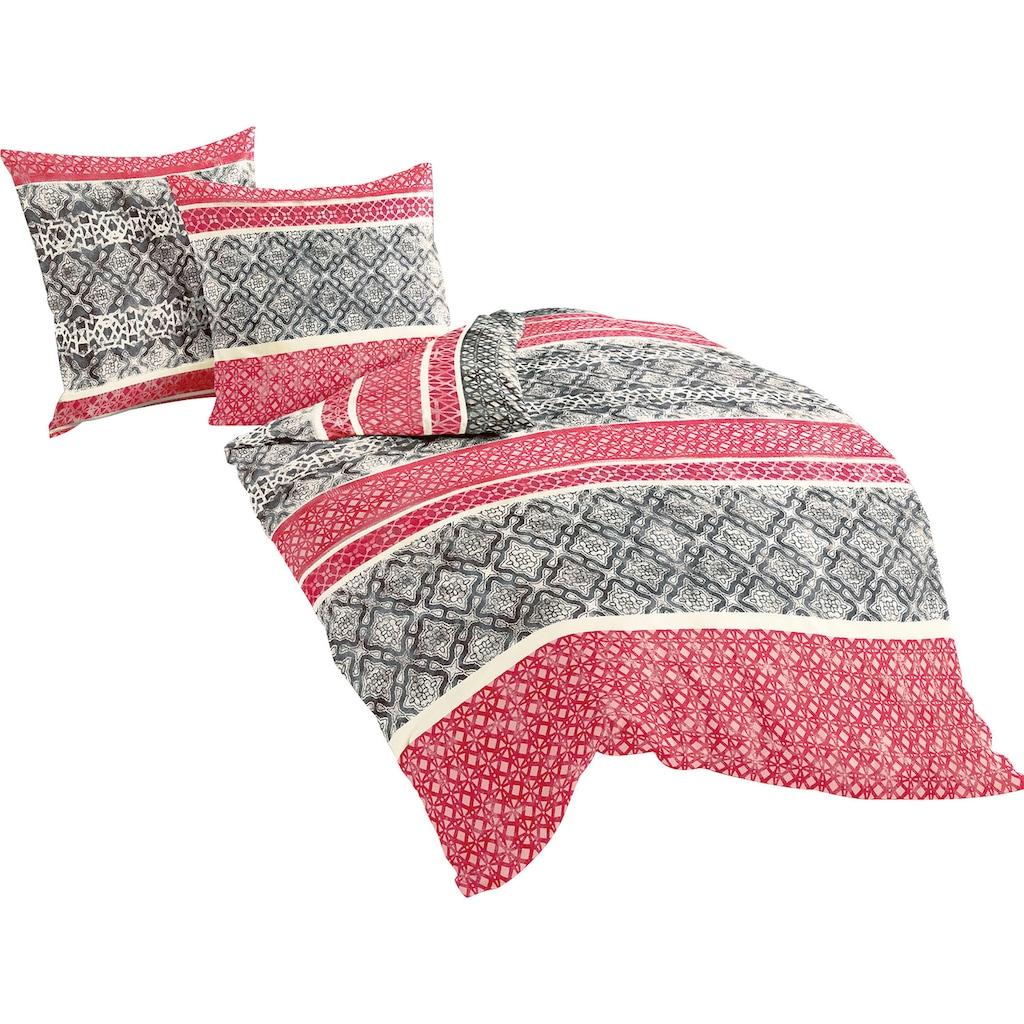 BIERBAUM Bettwäsche »Red Pattern«, mit Bordüren