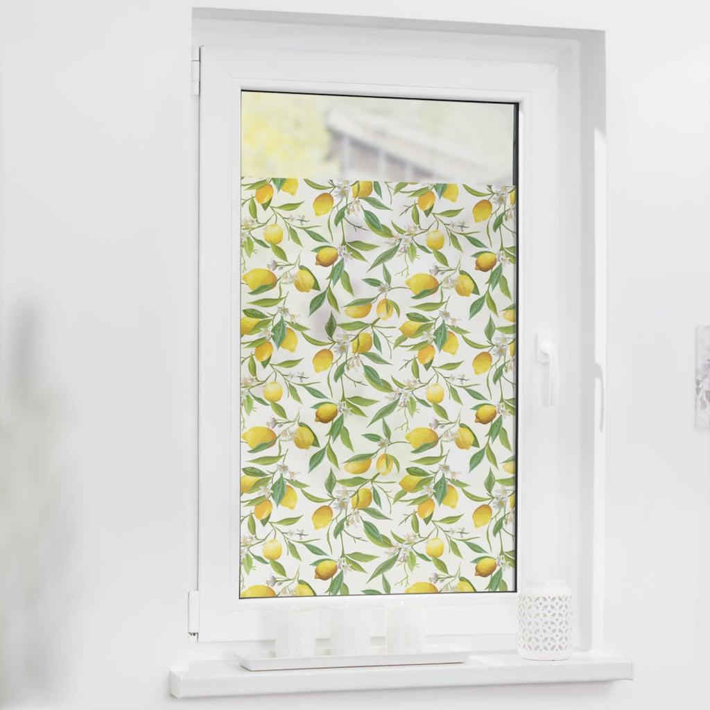 LICHTBLICK ORIGINAL Fensterfolie »Fensterfolie selbstklebend, Sichtschutz, Limone - Gelb Grün«, 1 St., blickdicht, glattstatisch haftend