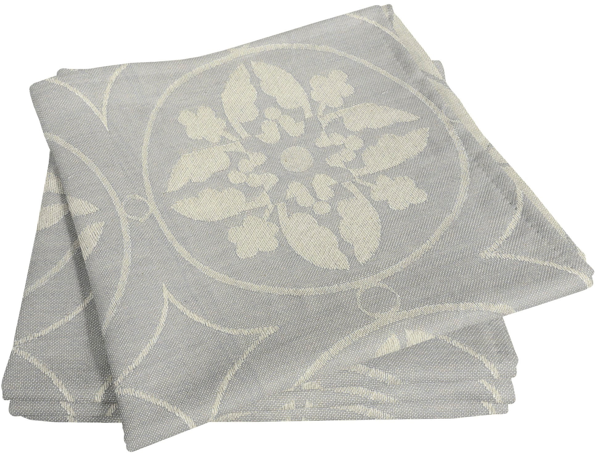 Adam Stoffserviette Romantic Puligny Light, (4 St.), nachhaltig, GOTS zertifiziert grau Stoffservietten Tischwäsche