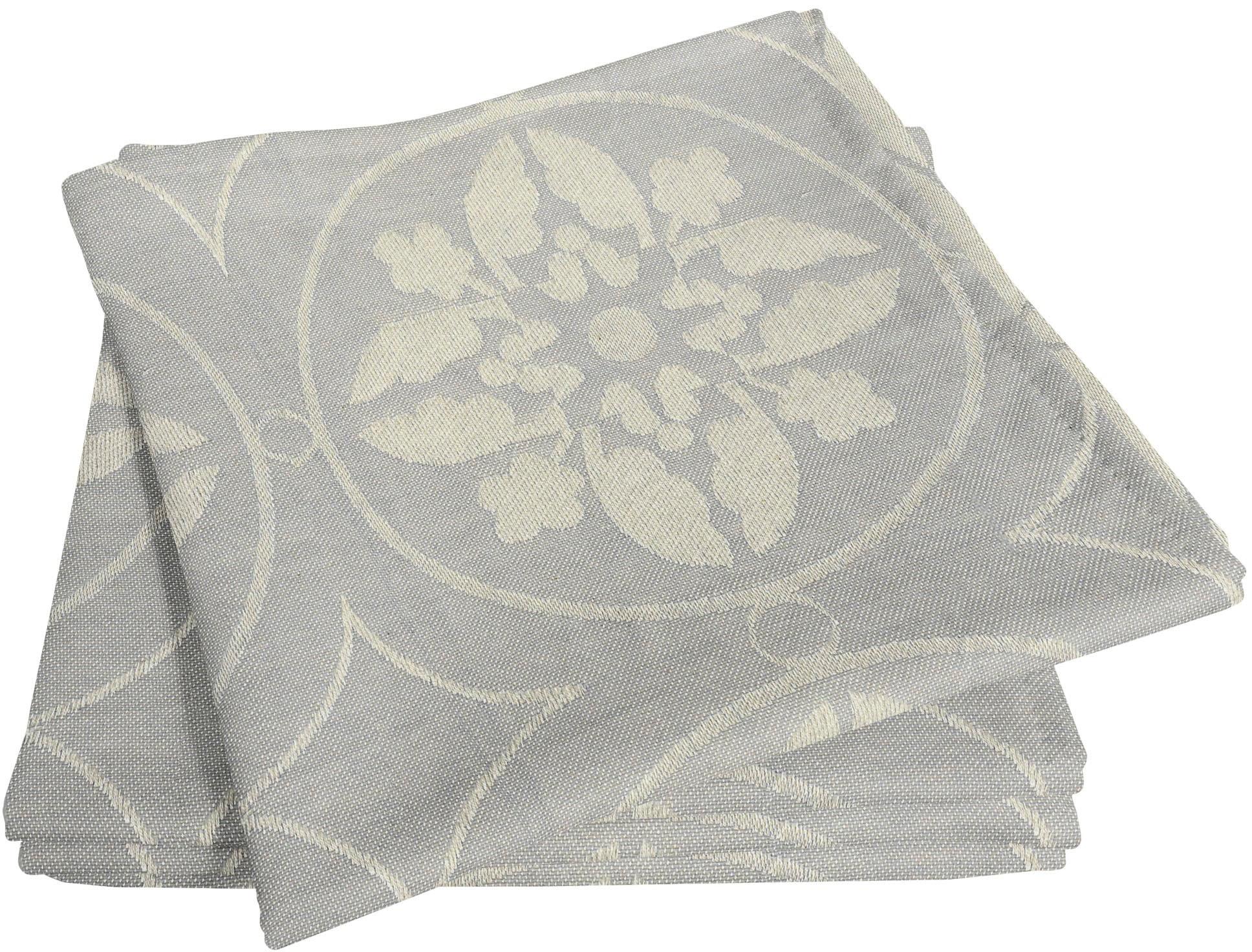 Stoffserviette, Romantic Puligny Light, Adam grau Stoffservietten Tischwäsche Serviette