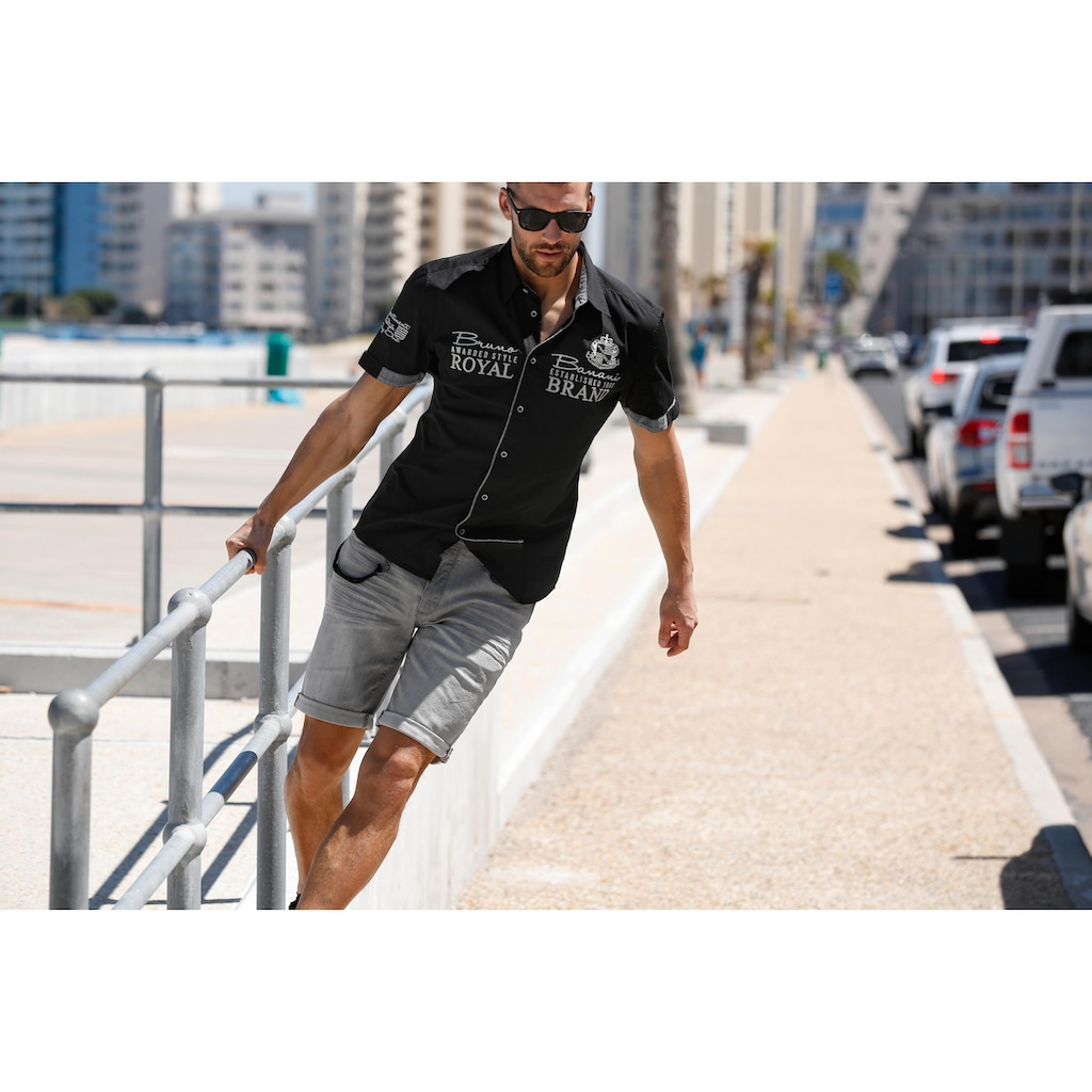 Bruno Banani Jeansbermudas »Hank«, mit Hosenkette