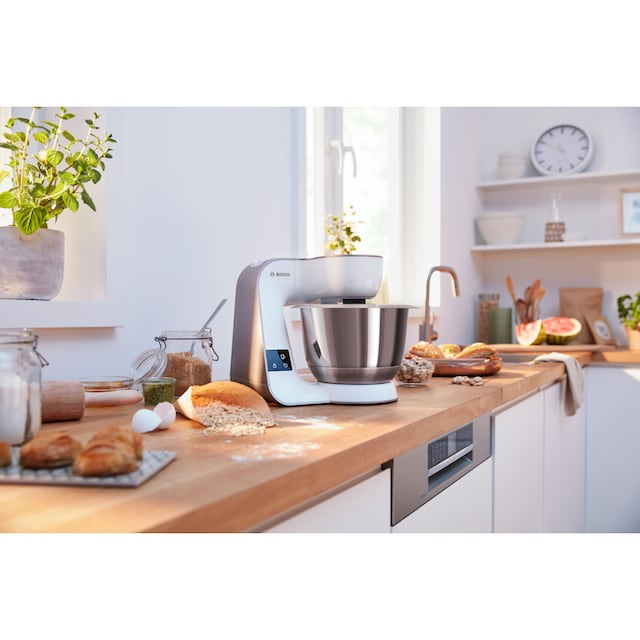 BOSCH Küchenmaschine MUM5 scale MUM5XW20 mit integrierter Waage, 1000 Watt, Schüssel 3,9 Liter
