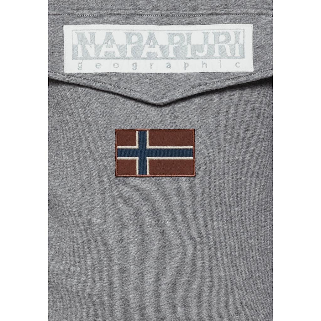 Napapijri Kapuzensweatshirt, mit Pattentasche vorn