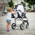 bergsteiger Kombi-Kinderwagen »Capri, black & white, 3in1«, 15 kg, Made in Europe; Kinderwagen