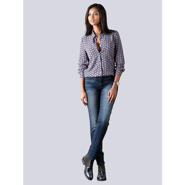 Alba Moda Bauchweg Jeans mit Powermesh-Einsatz