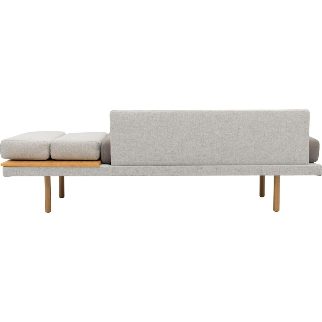 170QM Sofa »Pausenzeit«, Modernes Daybed, Ablage und Rücken rechts oder links montierbar