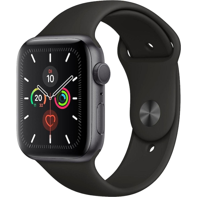 Apple Series 5 GPS, Aluminiumgehäuse mit Sportarmband 44mm Watch (Watch OS 6)