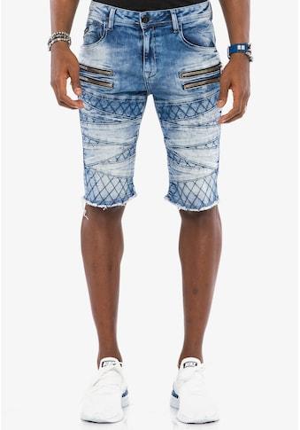 Cipo & Baxx Shorts, mit ausgefallenem Muster kaufen