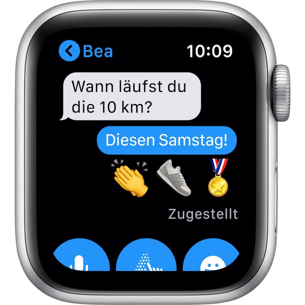 Apple Watch »Nike Series 6 GPS + Cellular, Aluminiumgehäuse mit Nike Sportarmband 40mm«, (Watch OS inkl. Ladestation (magnetisches Ladekabel)