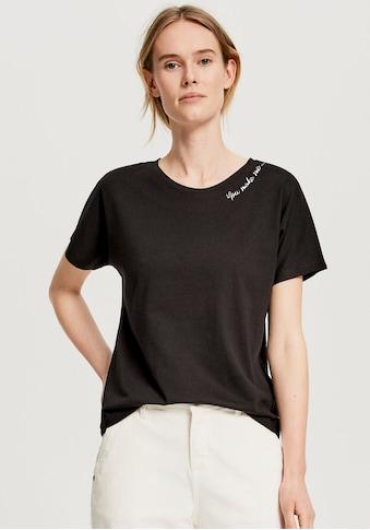 OPUS T-Shirt »Sembro«, mit Statement-Spruch an der Schulter kaufen