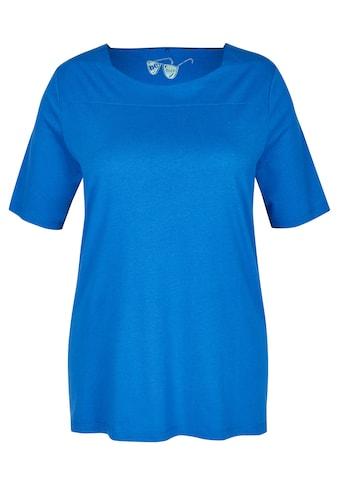 FRAPP Schickes T - Shirt mit Glitzernähten kaufen