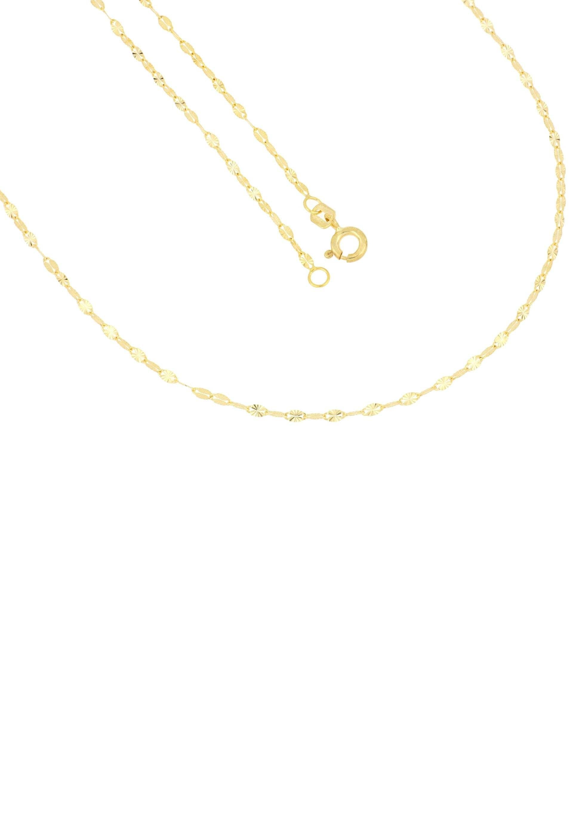 Firetti Goldkette in Plättchenkettengliederung, 2,0 mm breit, sterndiamantiert | Schmuck > Halsketten > Goldketten | Firetti
