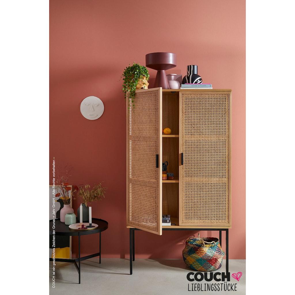 COUCH♥ Highboard »Feines Geflecht«, COUCH Lieblingsstücke, Front mit Wiener Geflecht