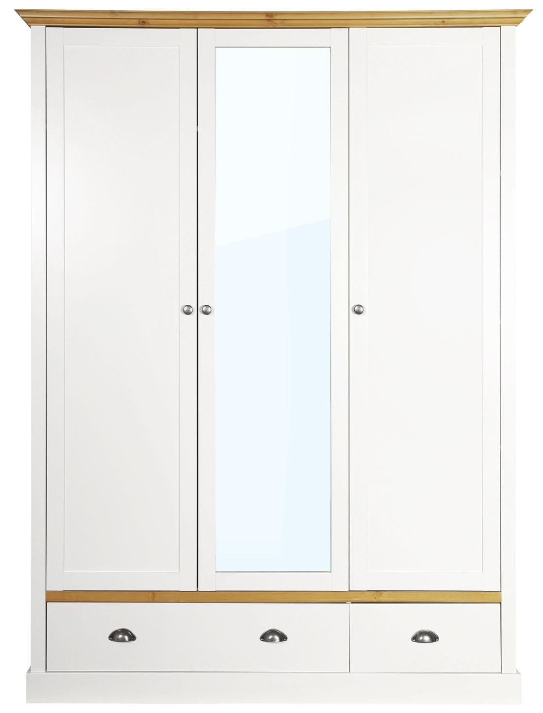 Home affaire Kleiderschrank »Sandringham« mit 2 Schubladen und 3 Türen, Breite 148 cm