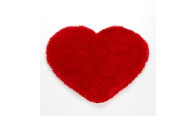Hochflor - Teppich, »Shaggy Herz KS - 5«, KiYou Shaggy, herzförmig, Höhe 40 mm, maschinell getuftet kaufen