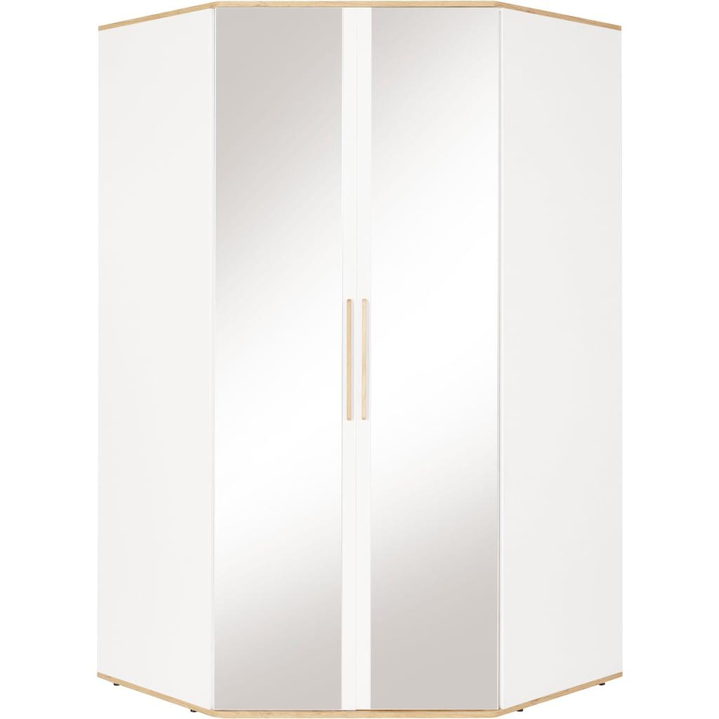 INOSIGN Eckkleiderschrank »Rula«, mit Spiegeltürenv und viel Stauraum