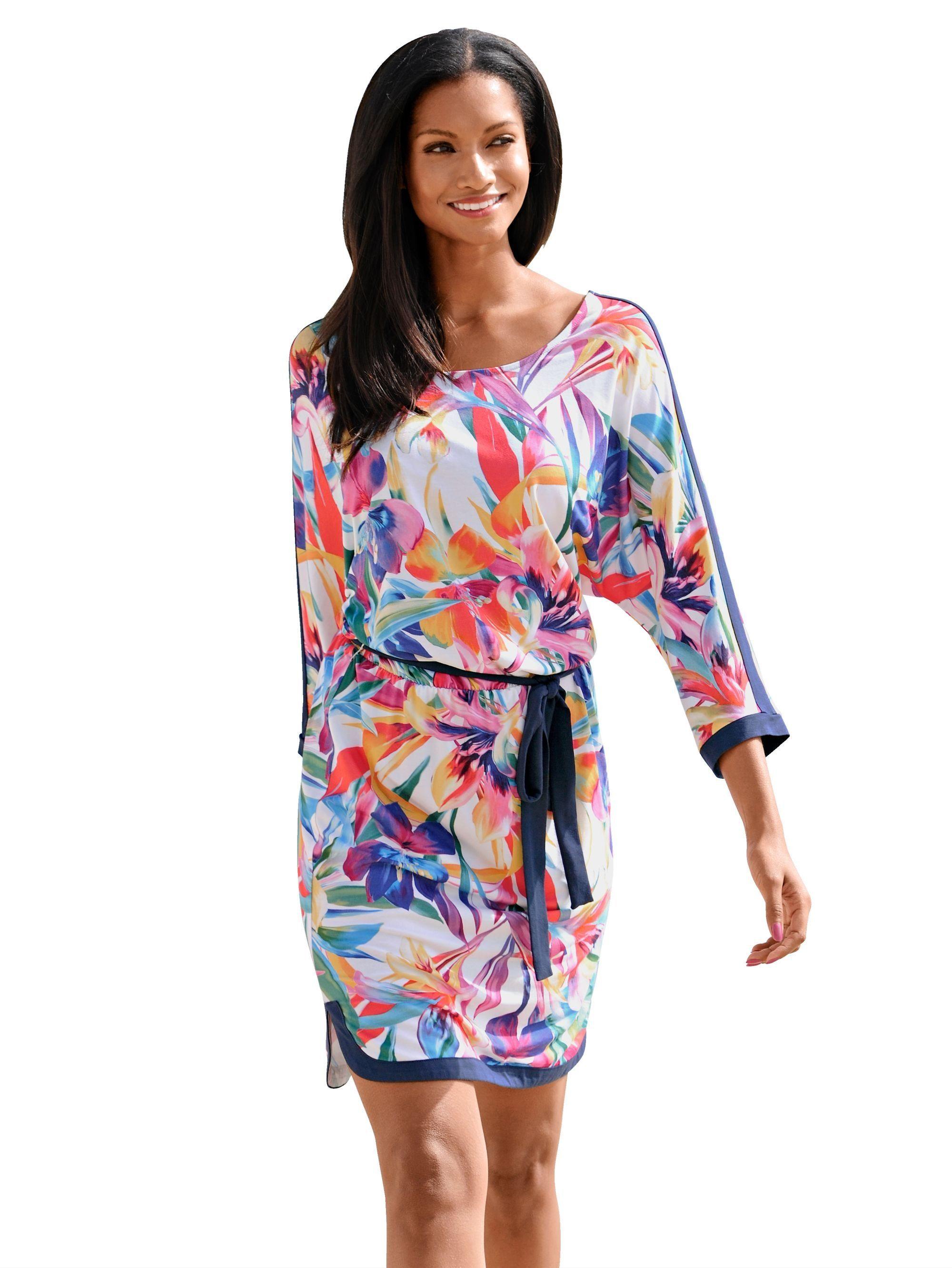 dfc6888ffa6b5e Alba Moda Strandkleid mit paradiesischem Blumendruck