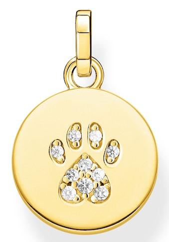 THOMAS SABO Kettenanhänger »Coin Pfote Katze gold, PE882-414-14«, mit Zirkonia kaufen