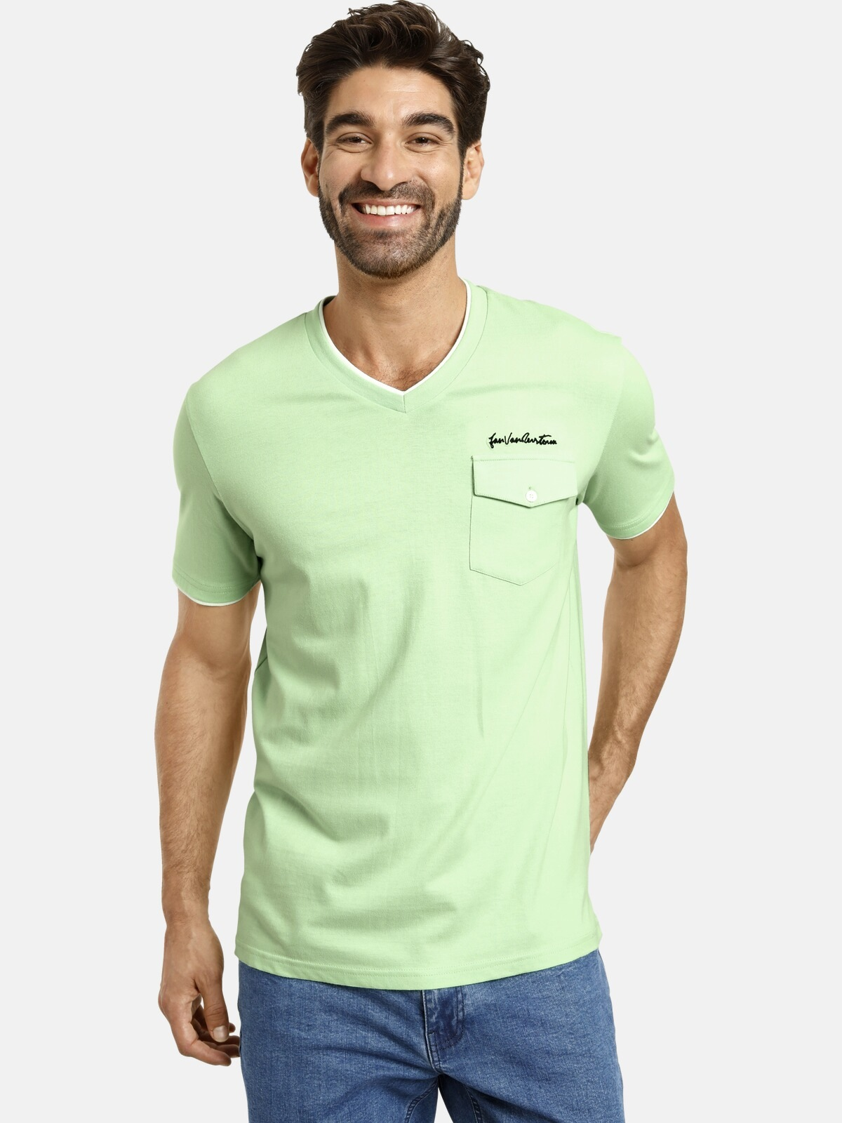 jan vanderstorm -  T-Shirt LENNARD, Doppellagen-Look