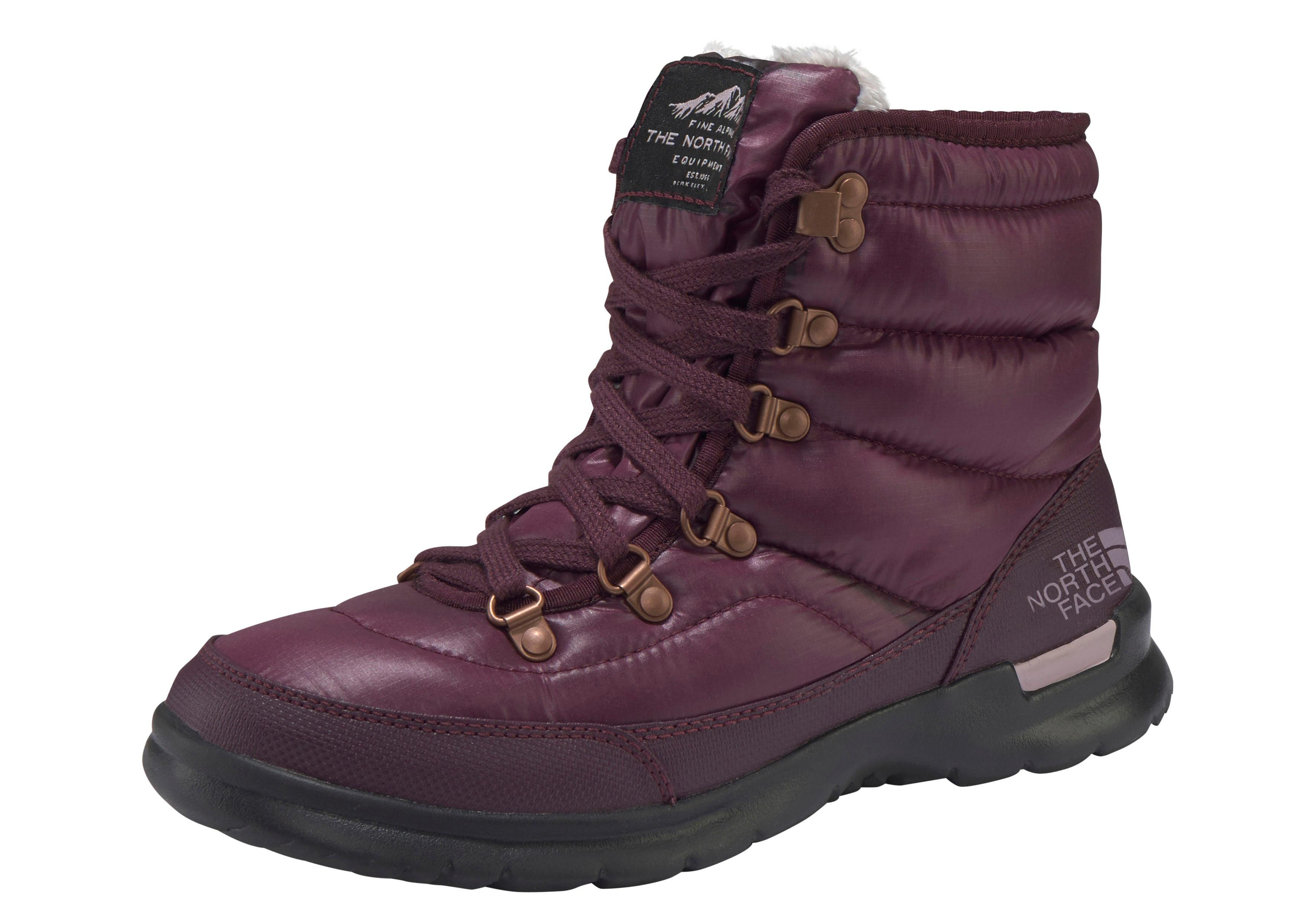 The North Face Outdoorwinterstiefel W ThermoBall? Lace | Schuhe > Outdoorschuhe > Outdoorwinterstiefel | Rot | Fleece | The North Face