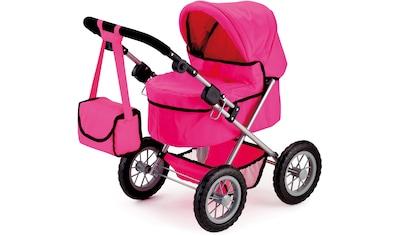 Bayer Puppenwagen »Trendy, pink«, mit Wickeltasche kaufen