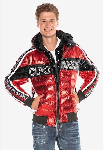 Cipo & Baxx Steppjacke, in coolem Glanz-Design kaufen