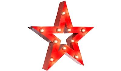 MARQUEE LIGHTS LED Dekolicht »Stern«, E14, 1 St., Warmweiß, Wandlampe, Tischlampe Star mit 10 festverbauten LEDs - 61cm Breit und 61cm hoch kaufen