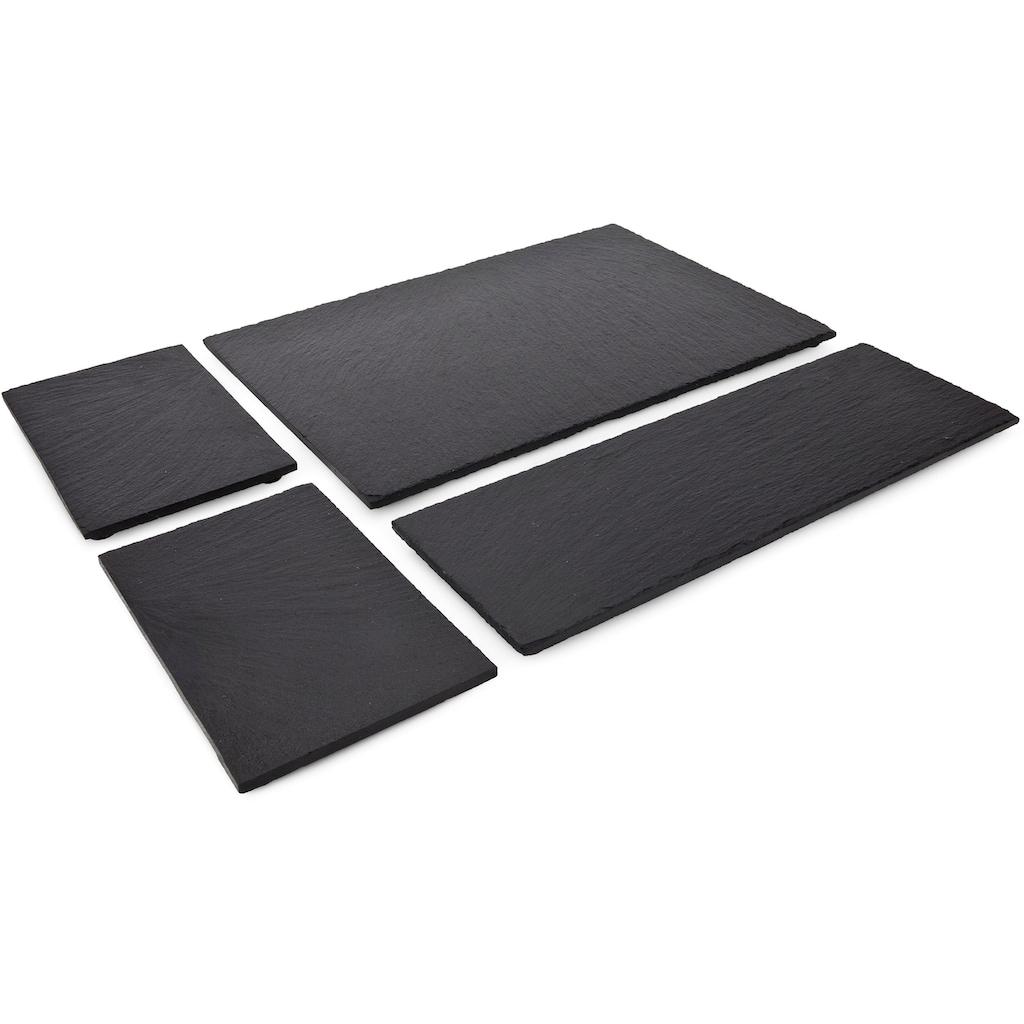 ROMINOX Servierplatte »Tapas«, (Set, 4 tlg.), aus Naturschiefer