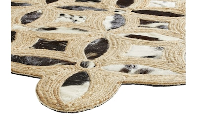 Teppich APUKA aus Kuhfell und Jute kaufen