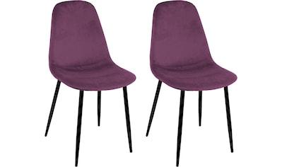 Polsterstuhl »Skadi«, (2 oder 4 Stück), mit Veloursbezug und in 2 Gestellfarben kaufen