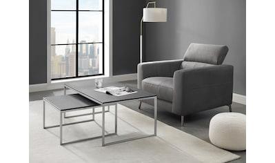 Places of Style Sessel »California«, mit verstellbarer Kopfstütze, in zwei Bezugsqualitäten kaufen